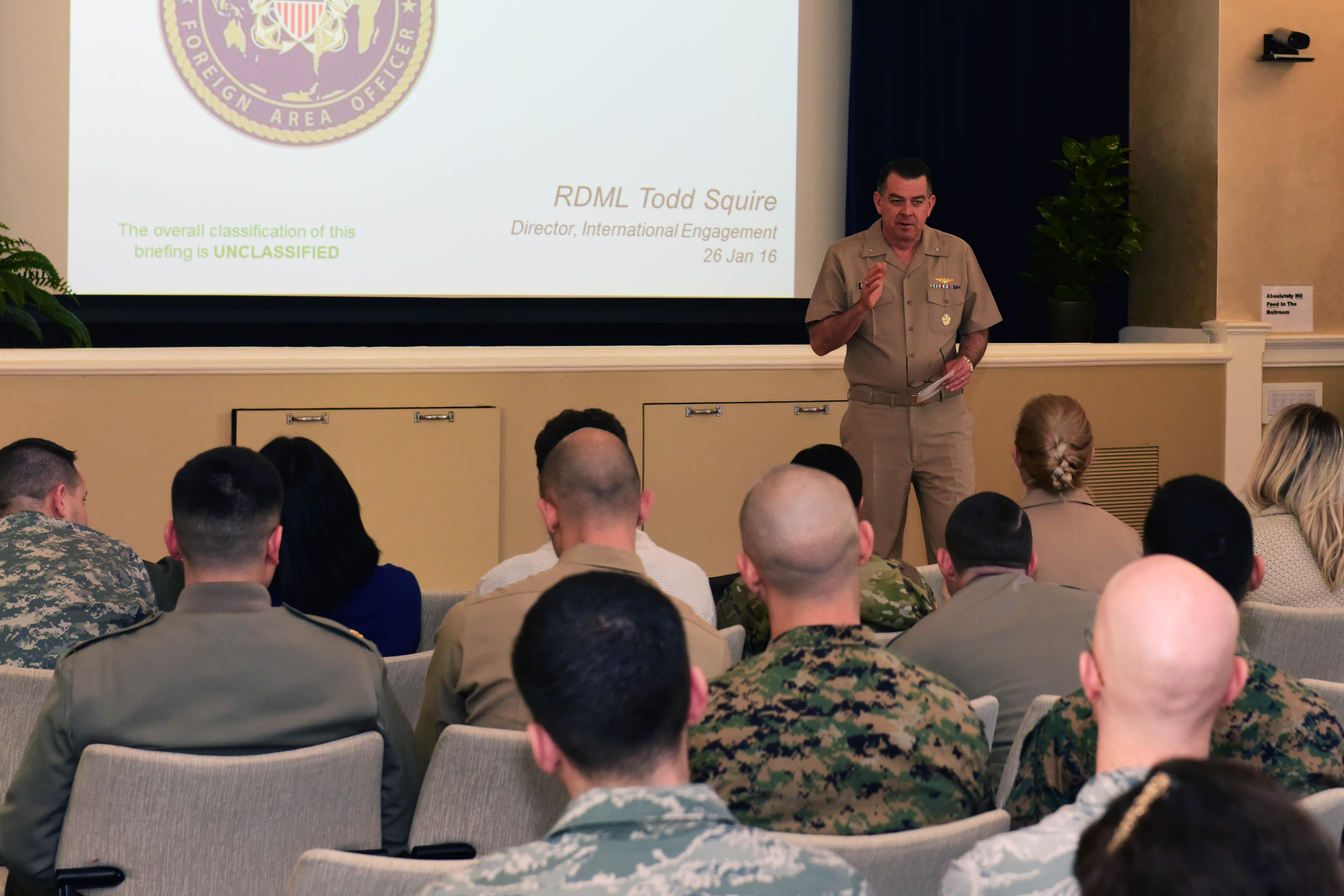 Admiral, DLIFLC graduate speaks to FAOs